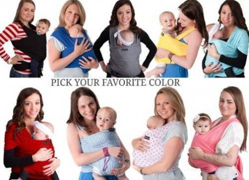4-in-1 Cuddle Bug Baby Wrap Carrier