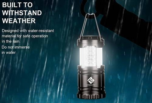 Etekcity 2-Pack Portable Outdoor LED Camping Lantern Flashlights
