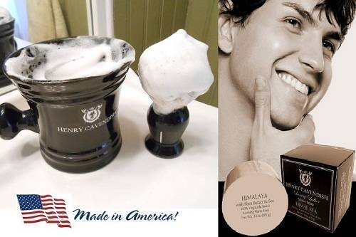 Shaving-Soap, with Shea Butter and Coconut Oil