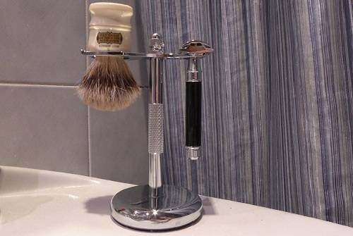 Perfecto Deluxe Chrome Best Safety Razor Stand