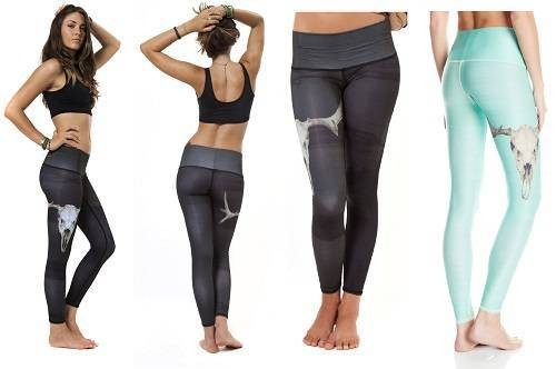 Teeki Womens Ecofriendly Deer-Medicine Yoga Hot Pants