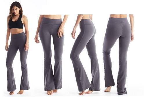 Viosi Womens Premium Fold-Over Yoga Pants