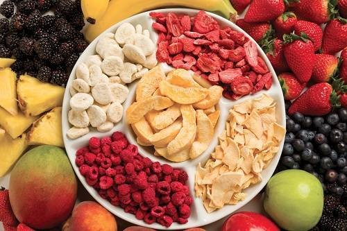 Before & After Dehydrated Fruits