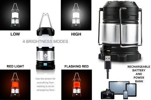 The Best Camping Lanterns Etekcity Portable Flashlights and USB Power Bank