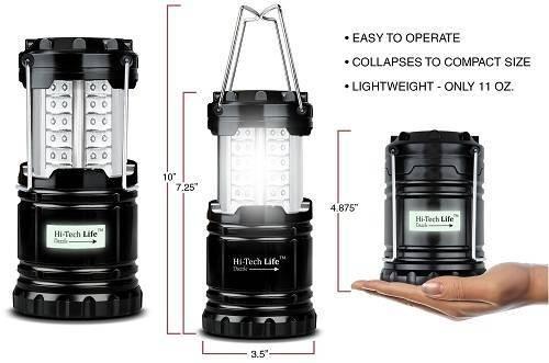 Hi-Tech Life Best Camping Lanterns with Glow-in-Dark Sticker