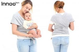 Innoo Tech Baby Sling Carrier Natural Cotton Original Baby Wrap