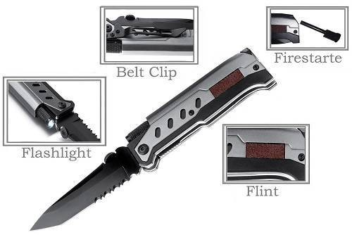 Outdoor Nation 3 In 1 Tactical Pocket Folding Knife