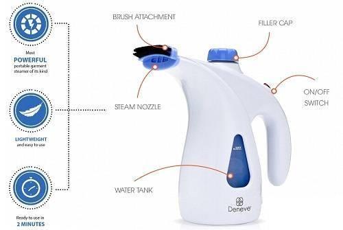 Portable Garment Steamer from Deneve
