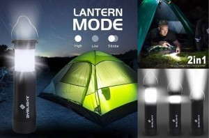 BYB 2-in-1 Mini Camping Lantern Flashlight