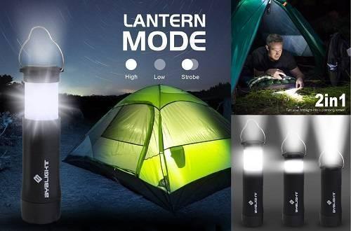 BYB 2-in-1 Mini Camping Lantern Flashlight
