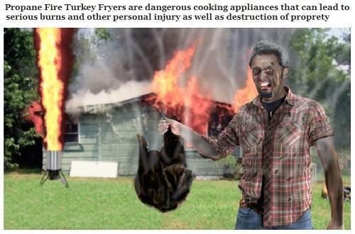 Deep Fried Turkey Warning