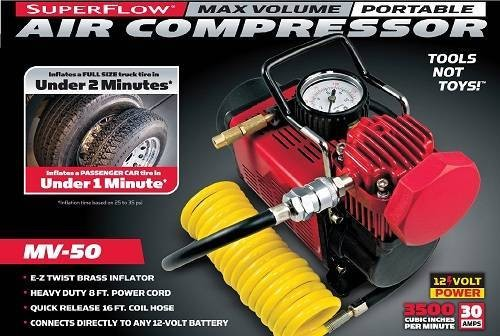 MV-50 SuperFlow High-Volume 12Volt Air Compressor from Q Industries