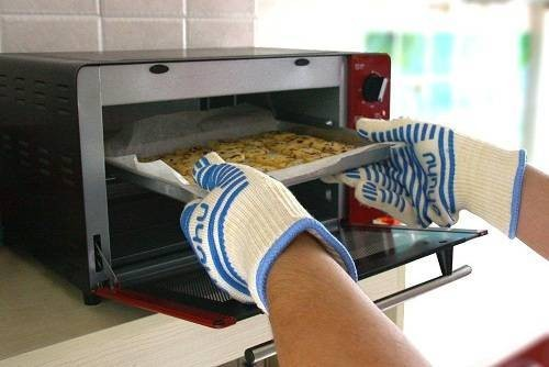OHUHU Oven Gloves, Oven Mitts and BBQ Gloves