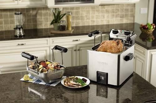 Waring ProTF200B Rotisserie Turkey Fryer Steamer