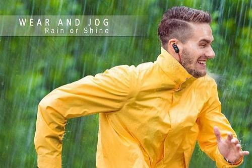 Yaarna Jogging Waterproof Wireless Earbuds with Microphone
