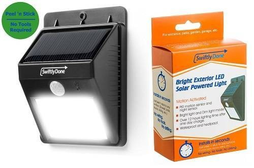 Swiftly Done Bright Solar-Powered Outdoor LED Light